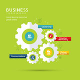 Business Teamwork Concept Icons with Gear Illustration Stock Image