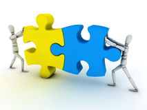 Business teamwork concept with jigsaw puzzle Stock Image