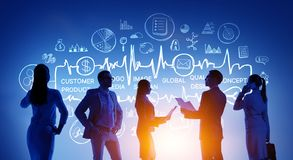 Business teamwork concept. Mixed media stock photography