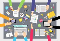 Business teamwork concept Royalty Free Stock Photos