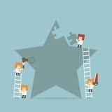 Business teamwork. Concept, vector eps10 Stock Image