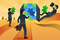 Business teamwork concept Stock Images