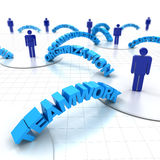 Business teamwork. Concept with words, 3d render Royalty Free Stock Image