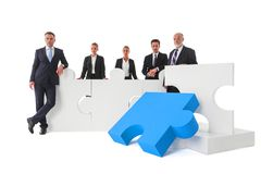 Business teamwork and cooperation concept stock photo