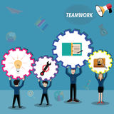 Business teamwork,everyperson in team working for success - Vect. Or Illustration Stock Image