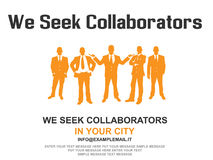 Business teamwork flyer poster design background orange. For web Stock Image