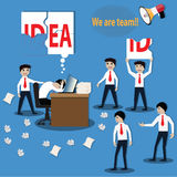 Business teamwork,Friend helping to create idea for success. Vector Illustration vector illustration