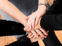 Business teamwork hands Stock Images