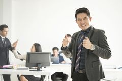 Business teamwork hands thumbs up. concept celebration success. For work Royalty Free Stock Photography