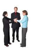 Business teamwork - hands together Royalty Free Stock Photos