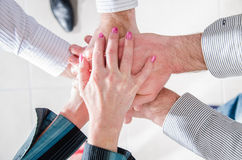 Business teamwork hands Royalty Free Stock Photography