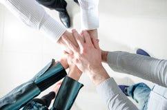 Business teamwork hands Stock Photo