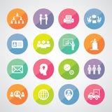 Business teamwork  icon set Royalty Free Stock Photos