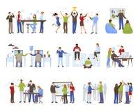 Business Teamwork Icons Set royalty free illustration