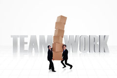 Business teamwork isolated vector illustration