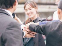 Business Teamwork Join Hands Support Together Concept. Royalty Free Stock Photography