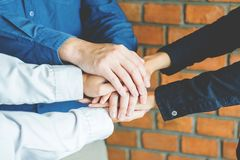 Business Teamwork joining hands team spirit Collaboration Concep Royalty Free Stock Images
