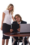Business teamwork with laptop Royalty Free Stock Photos