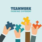 Business teamwork and leadership Royalty Free Stock Image