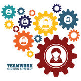 Business teamwork and leadership Stock Image