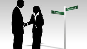Business teamwork leading to success Royalty Free Stock Photography