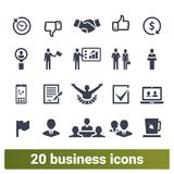 Business Management And Leadership Icons Collection vector illustration