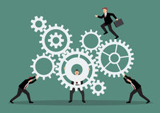 Business teamwork with mechanism system Stock Photography