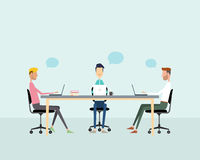 Business teamwork meeting brainstorm and talking on work Royalty Free Stock Photo