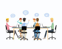 Business teamwork meeting and working concept Royalty Free Stock Photo