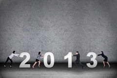 Business teamwork in new year 2013 Royalty Free Stock Photos