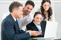 Business teamwork at office Stock Images