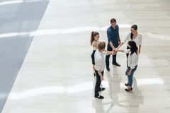 Business teamwork. People with joined hands. Union Stock Photography