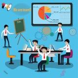 Business teamwork,planning work - Vector. Illustration stock illustration