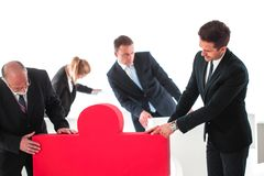 Business teamwork and problem solution royalty free stock images