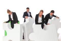 Business teamwork and problem solution stock photo