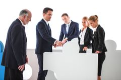 Business teamwork and problem solution royalty free stock photo