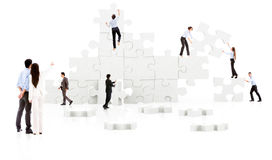 Business teamwork - puzzle Royalty Free Stock Photography