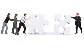 Business teamwork - puzzle pieces Royalty Free Stock Photo