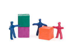 Business teamwork - right decision stock images