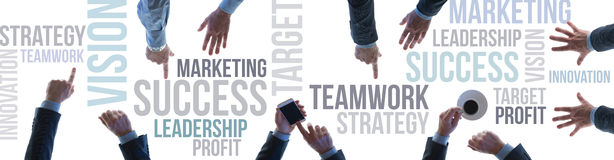 Business teamwork and success banner Stock Image