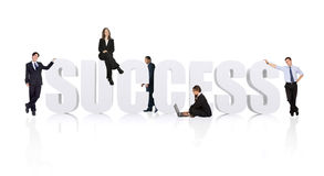 Business teamwork for success - businesspeople workforce Stock Photos
