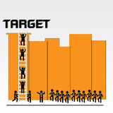 Business teamwork for target achievement Royalty Free Stock Image