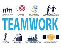 Business Teamwork Team Hard Work Concept. Vector Illustration Royalty Free Stock Photos