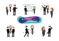 Business teamwork, vector, community working, group of people of vector illustration