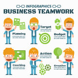 Business Teamwork. Vector Infographic Elements Stock Images