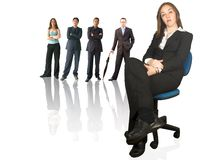 Business teamwork - woman with her team Royalty Free Stock Photo