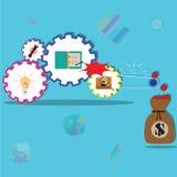 Business teamwork,working for success - Vector. Illustration stock illustration