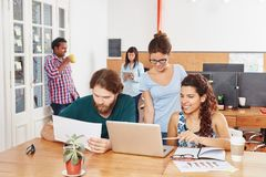 Business teamwork workshop. In coworking office Stock Photos