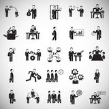Business and teamworking set on white background. Icons royalty free illustration