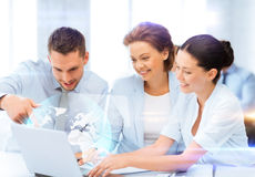 Business teamworking with virtual screen Stock Photos